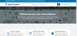 web defensa al consumidor